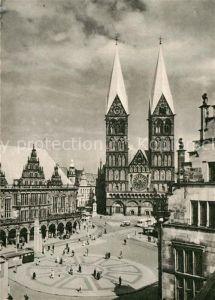 AK / Ansichtskarte Bremen Rathaus Dom und Marktplatz Kat. Bremen
