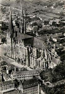 AK / Ansichtskarte Chartres Eure et Loir La Cathedrale Fliegeraufnahme Kat. Chartres
