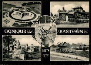 AK / Ansichtskarte Bastogne Liege Mardasson Denkmal Panzer Denkmal Bueste Hirsch Kat.