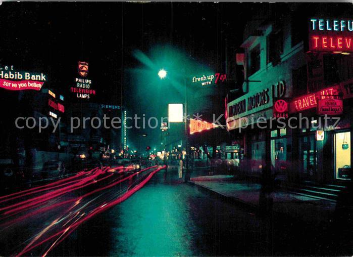 AK / Ansichtskarte Karachi Victoria Road Nachtaufnahme Kat. Karachi