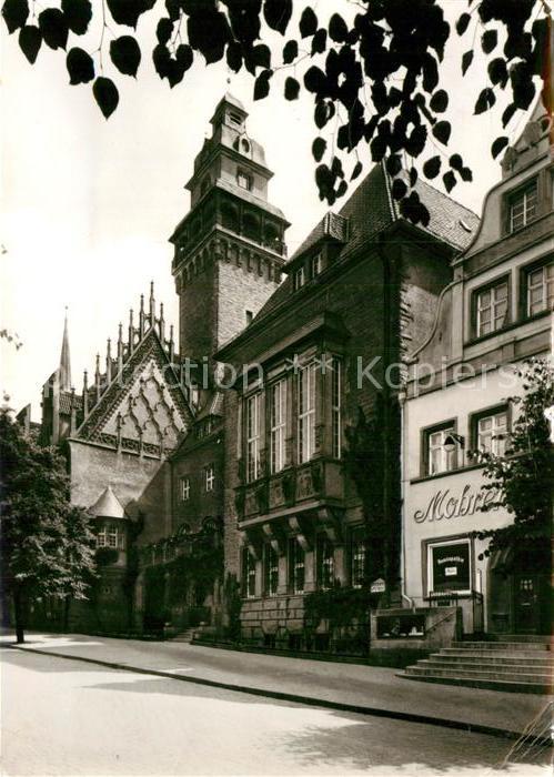 AK / Ansichtskarte Zeitz Rathaus mit gotischem Giebel Kat. Zeitz