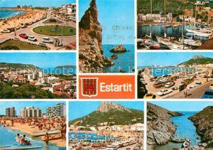AK / Ansichtskarte Estartit Uferstrasse Kueste Hafen Strand Bucht Kat. Spanien