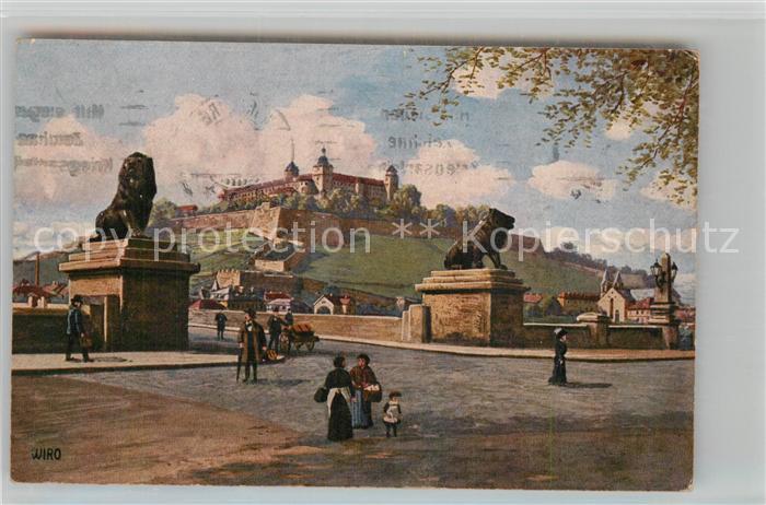 AK / Ansichtskarte Verlag Wiedemann WIRO Nr. 2938 B Wuerzburg Festung von der Ludwigsbruecke  Kat. Verlage
