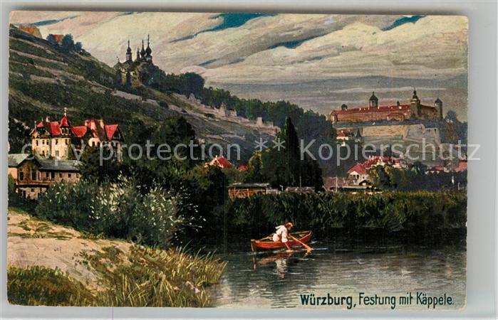 AK / Ansichtskarte Verlag Wiedemann WIRO Nr. 1712 C Wuerzburg Festung mit Kaeppele Kat. Verlage