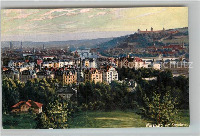 AK / Ansichtskarte Verlag Wiedemann WIRO Nr. 1709 Wuerzburg vom Steinberg Kat. Verlage