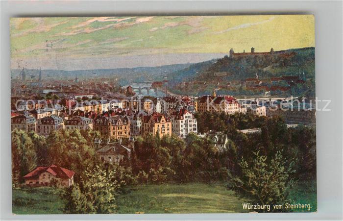 AK / Ansichtskarte Verlag WIRO Wiedemann Nr. 1709 Wuerzburg vom Steinberg Kat. Verlage