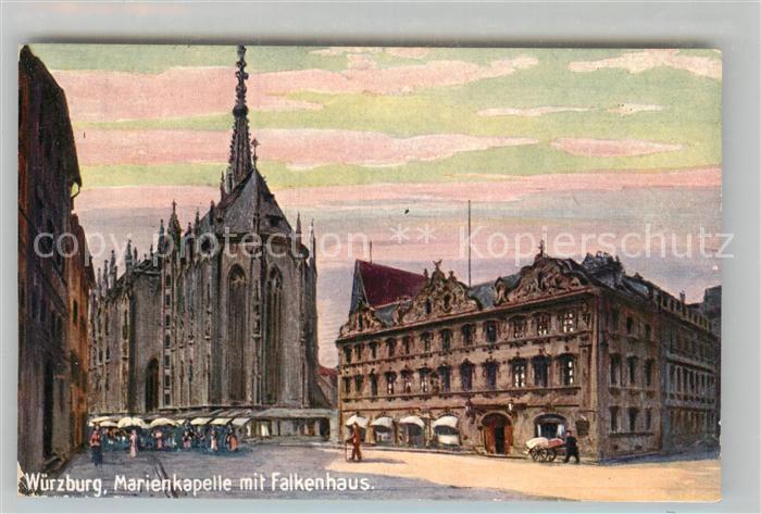 AK / Ansichtskarte Verlag Wiedemann WIRO Nr. 1714 Wuerzburg Marienkapelle Falkenhaus  Kat. Verlage