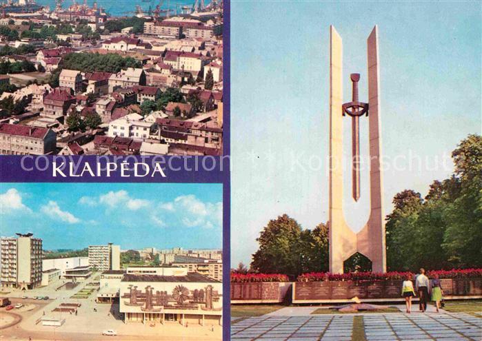 AK / Ansichtskarte Klaipeda Panorama Siedlung Hochhaeuser Denkmal Kat. Klaipeda