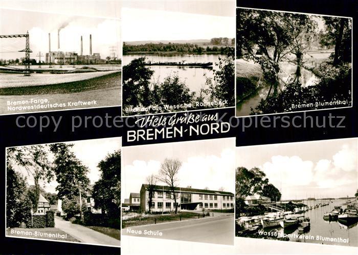 AK / Ansichtskarte Bremen Kraftwerk Blumenthal Neue Schule Kat. Bremen