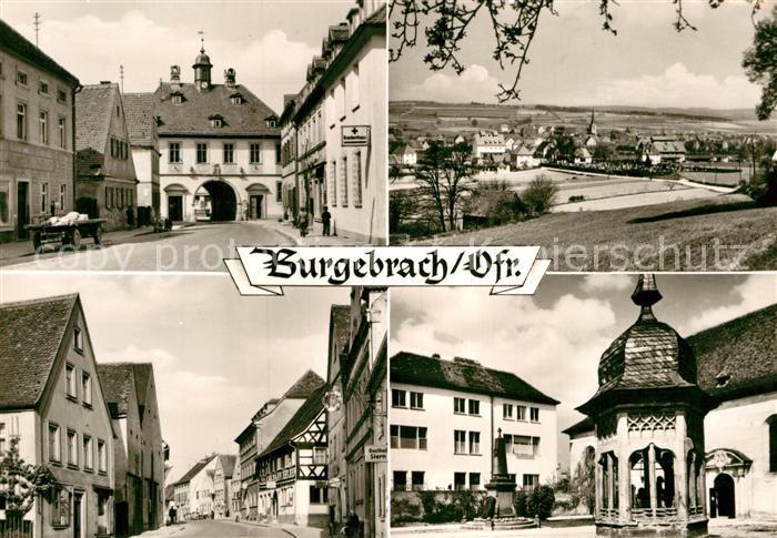 AK / Ansichtskarte Burgebrach Rathaus Gesamtansicht Hauptstrasse Kirchplatz Kat. Burgebrach