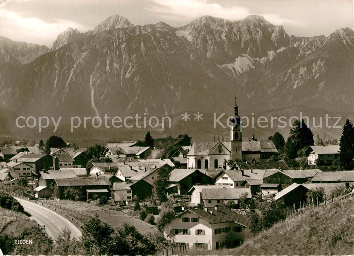 AK / Ansichtskarte Rieden Allgaeu Koellespitze Schlicke Vilser Kegel Kat. Fuessen