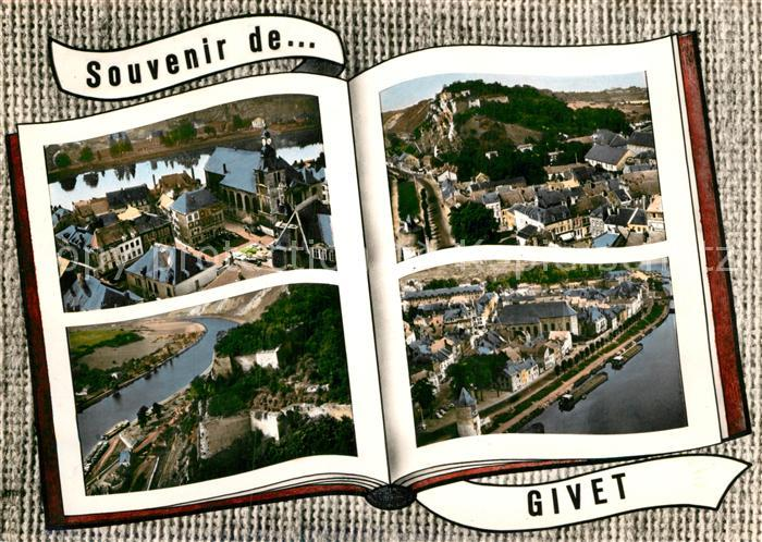 AK / Ansichtskarte Givet Ardennes Place Carnot Tour Victoire Fort de Charlemont Eglise Livre Kat. Givet