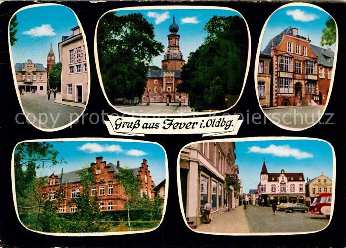 AK / Ansichtskarte Jever Glockenturm Schloss Rathaus Gymnasium  Kat. Jever