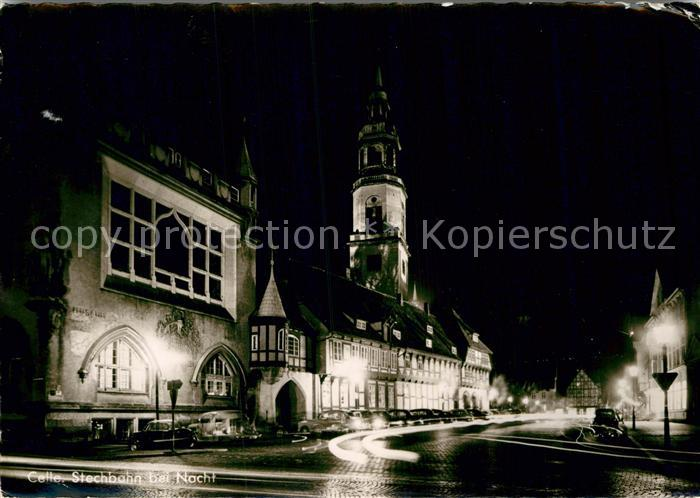 AK / Ansichtskarte Celle Niedersachsen Stechbahn bei Nacht Kat. Celle
