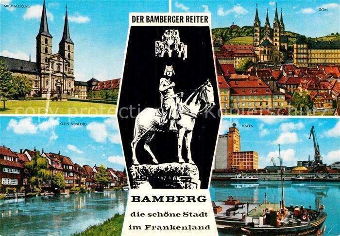 AK / Ansichtskarte Bamberg Michaelskirche Dom Klein Venedig Hafen Bamberger Reiter Kat. Bamberg