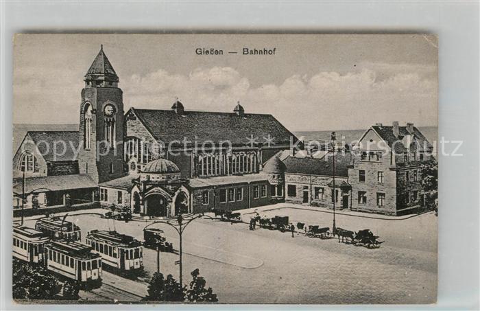 AK / Ansichtskarte Strassenbahn Giessen Bahnhof  Kat. Strassenbahn