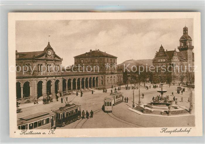 AK / Ansichtskarte Strassenbahn Heilbronn Hauptbahnhof  Kat. Strassenbahn