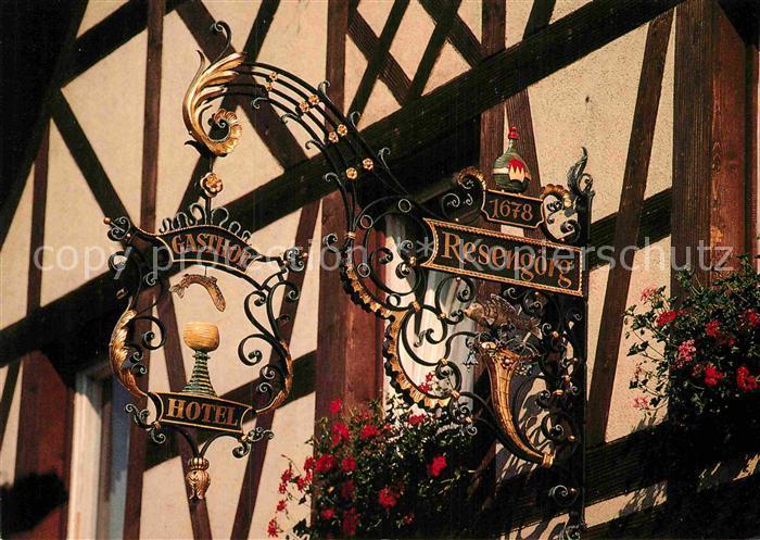 AK / Ansichtskarte Ebermannstadt Hotel Gasthof Resengoerg Tuerschild Kat. Ebermannstadt