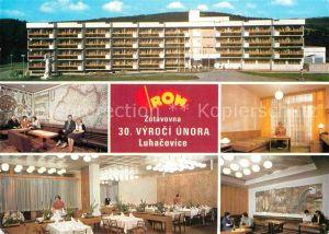 AK / Ansichtskarte Luhacovice Zotavovna ROH 30 Vyroci Unora Erholungsheim Restaurant Kat. Tschechische Republik
