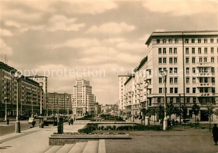 AK / Ansichtskarte Berlin Stalinallee Blick nach Westen Kat. Berlin