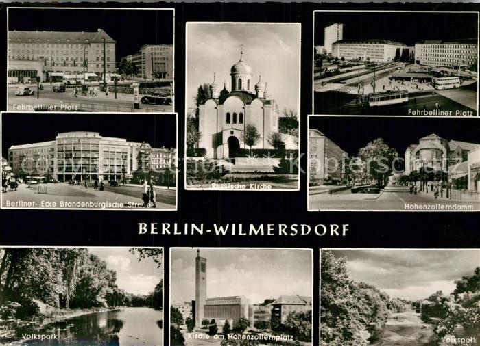 AK / Ansichtskarte Wilmersdorf Berlin Ferbelliner Platz Brandenburgische Strasse Volkspark Russische Kirche Kat. Werneuchen