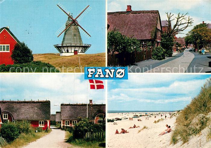 AK / Ansichtskarte Fanoe Windmuehle Strand Kat. Daenemark