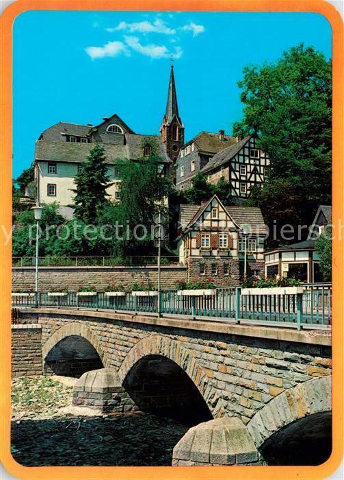 AK / Ansichtskarte Bad Berleburg Partie an der Odeborn Kat. Bad Berleburg