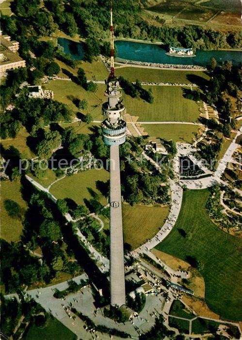 AK / Ansichtskarte Dortmund Fliegeraufnahme Westfalenpark Florianturm Kat. Dortmund