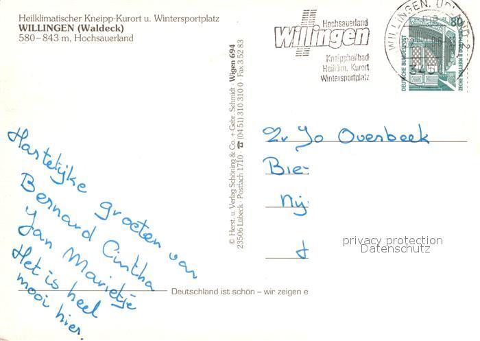Ak Ansichtskarte Willingen Sauerland Fliegeraufnahme Sessellift