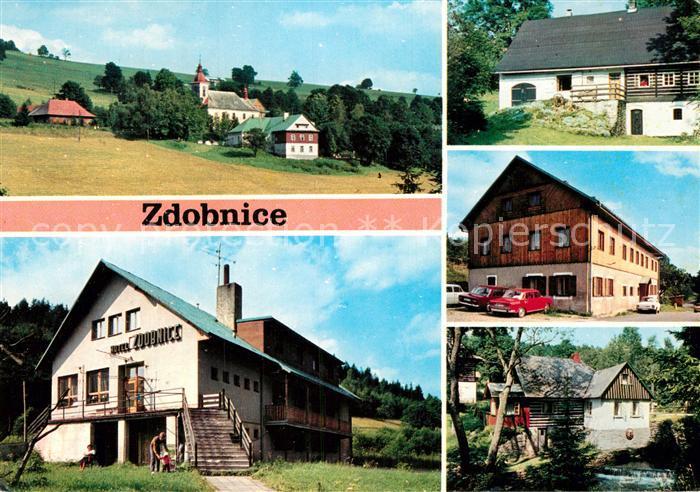 AK / Ansichtskarte Zdobnice Rekreacni obec v udoli ricky na svazich Zakleteho v Orlickych horach