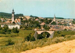 AK / Ansichtskarte Floss Ortsansicht mit Kirchen Kat. Floss
