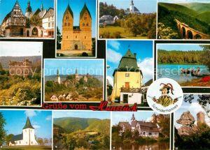 AK / Ansichtskarte Hunsrueck Markt Balduinseck Hunsrueckdom Tuerme Simmern Argenthal Waldsee Nunkirche Ruine Waldeck Gemuenden Koppenstein Kat.