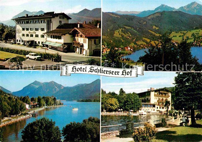 AK / Ansichtskarte Schliersee Hotel Schlierseer Hof Landschaftspanorama Alpen Kat. Schliersee