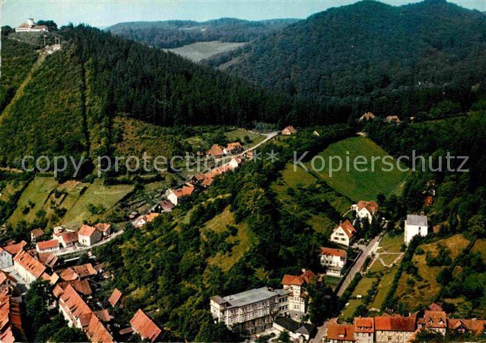 AK / Ansichtskarte Bad Lauterberg Kneippheilbad St Benno Stift mit Hausberg Fliegeraufnahme Kat. Bad Lauterberg im Harz
