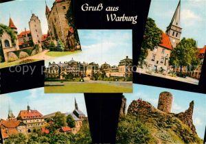 AK / Ansichtskarte Warburg Westfalen Burg Calenberg Schloss Kirche Marienbrunnen Ruine Desenberg Kat. Warburg