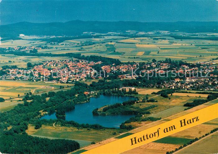 AK / Ansichtskarte Hattorf Harz Fliegeraufnahme Kat. Hattorf am Harz