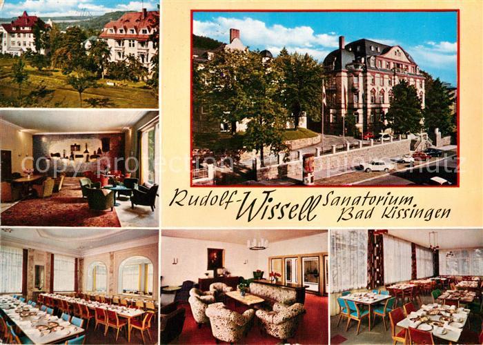 AK / Ansichtskarte Bad Kissingen Rudolf Wissel Sanatorium Speisesaal Foyer Kat. Bad Kissingen
