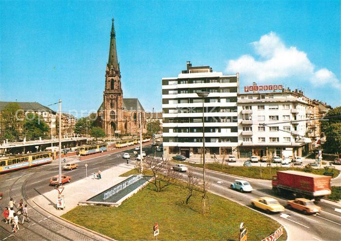 AK / Ansichtskarte Karlsruhe Baden Durlacher Tor Bernharduskirche
