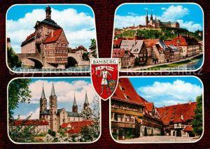 AK / Ansichtskarte Bamberg Altes Rathaus Alte Hofhaltung Regnitz Michelsberg Dom Kat. Bamberg