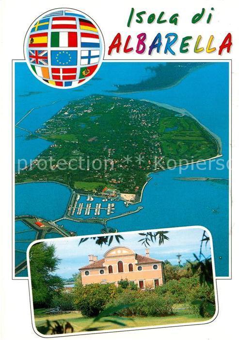 AK / Ansichtskarte Isola Albarella Fliegeraufnahme Villa