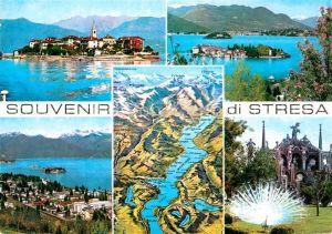 AK / Ansichtskarte Stresa Lago Maggiore Kirche Inseln Pfau Panoramakarte