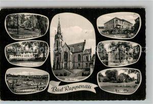 AK / Ansichtskarte Bad Rappenau Musikhalle Kurmittelhaus Sole Schwimmbad Kirche Kurhotel Wasserschloss Kat. Bad Rappenau