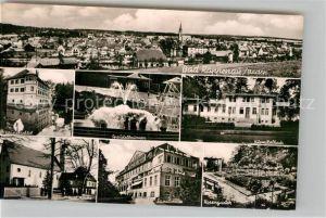 AK / Ansichtskarte Bad Rappenau Wasserschloss Kirche Sanatorium Rosengarten Kurmittelhaus  Kat. Bad Rappenau