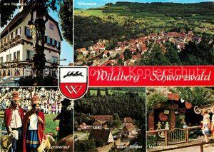 AK / Ansichtskarte Wildberg Schwarzwald Rathaus Panorama Schaeferlauf Ehem Kloster Maerchengarten Kat. Wildberg