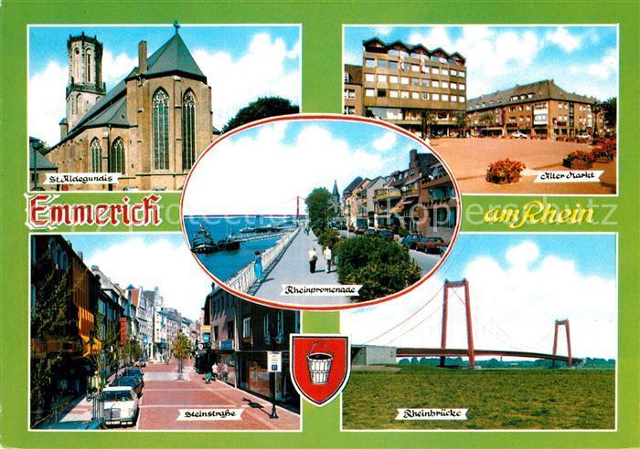 AK / Ansichtskarte Emmerich Rhein St Aldegundis Alter Markt Steinstr Rheinbruecke Kat. Emmerich am Rhein