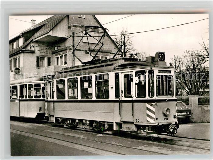 AK / Ansichtskarte Strassenbahn Esslingen Nellingen Denkendorf Triebwagen 20  Kat. Strassenbahn
