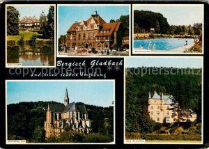 AK / Ansichtskarte Bergisch Gladbach Haus Lerbach Rathaus Herrenstrunden Altenberger Dom Burg Strauweiler Kat. Bergisch Gladbach