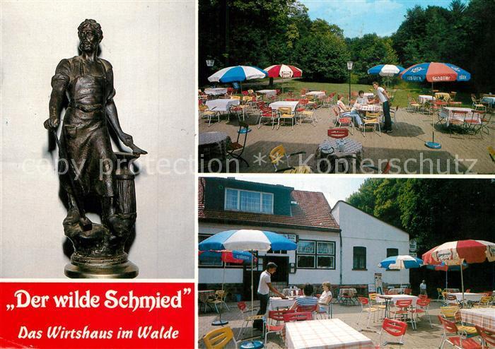 AK / Ansichtskarte Dehme Der wilde Schmied Gasthaus Zum Wilden Schmied Terrassen Kat. Bad Oeynhausen