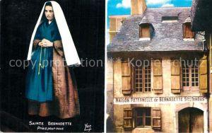 AK / Ansichtskarte Lourdes Hautes Pyrenees Sainte Bernadette Maison Paternelle de Bernadette Soubirous Kat. Lourdes
