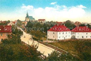 AK / Ansichtskarte Lommatzsch Teilansicht Kirche Kat. Lommatzsch